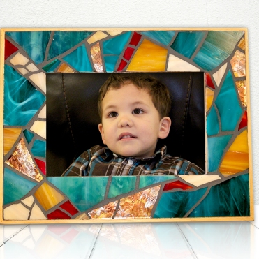 Teal Mosaic Frame