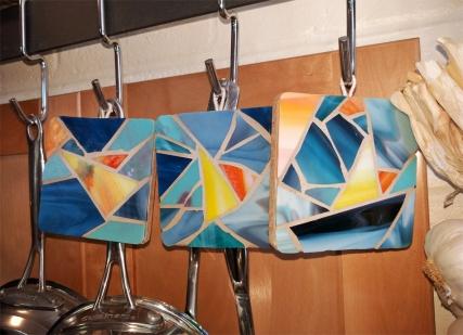 nautical sailboat glass coasters