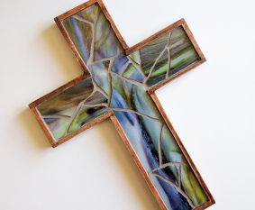 primitive wooden wall cross