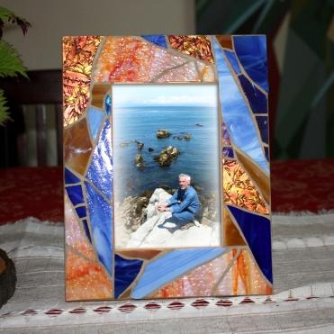 Blue Amber Frame
