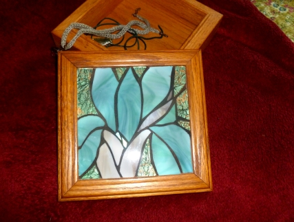 stained glass iris jewelry box