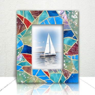 Coastal Aqua Glass frame