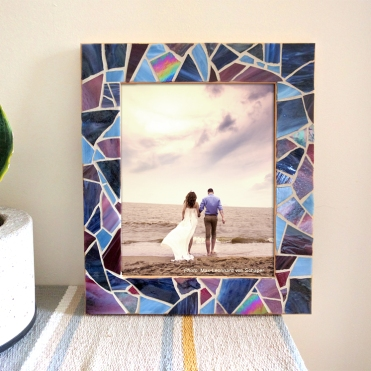 Purple Wedding Frame