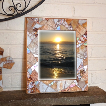 Beige Mosaic Frame
