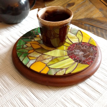 mosaic sunflower trivet