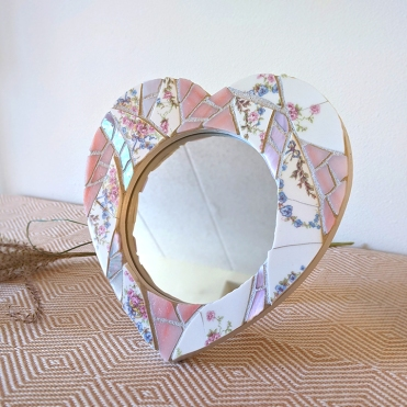 pink mosaic mirror